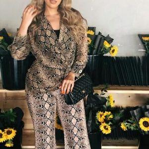 Zara chiffon leopard print shirt